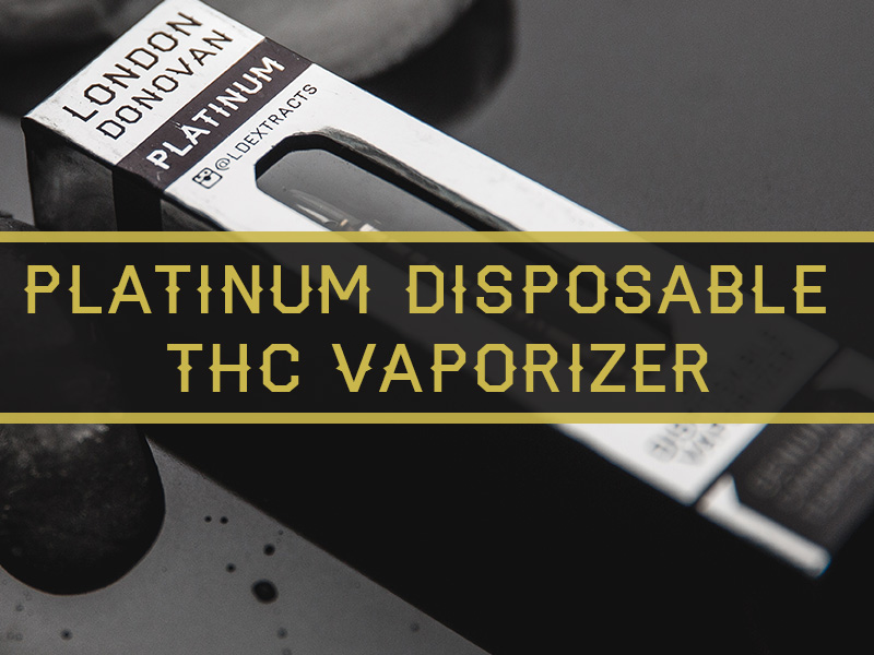 London Donovan Platinum Disposable THC Vaporizer